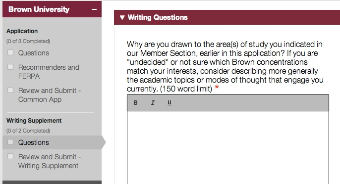 College essay common app word limit