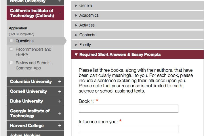 Common app essay examples option 1